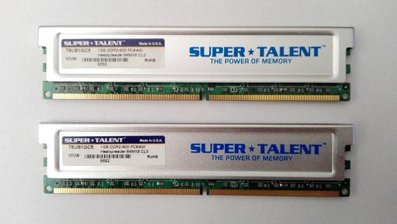 Memorias Super Talent (2 X 1 Gb) 240-pin Ddr2-800 Pc2-6400