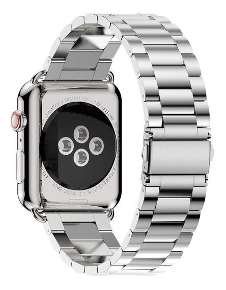 Extensible Acero Inoxidable Apple Watch 5/4/3/2/1 Platino