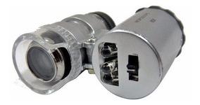 Microscopio Mini 60x Ajustable Con Led Y Luz Uv Obi
