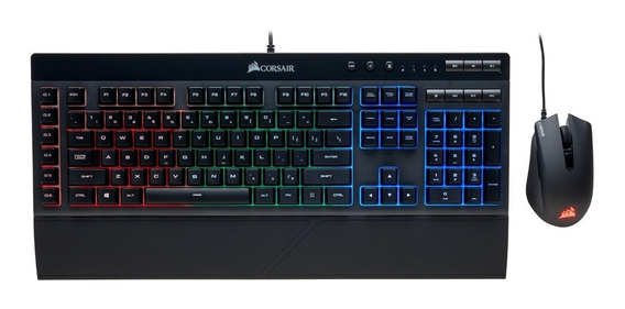 Combo Gamer Corsair Teclado K55 Rgb & Mouse Harpoon Rgb