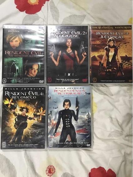 Resident Evil Filmes 1, 2, 3, 4, 5. Originais. Todos Juntos.