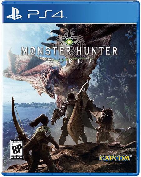 Monster Hunter World Ps4 Midia Fisica Lacrada