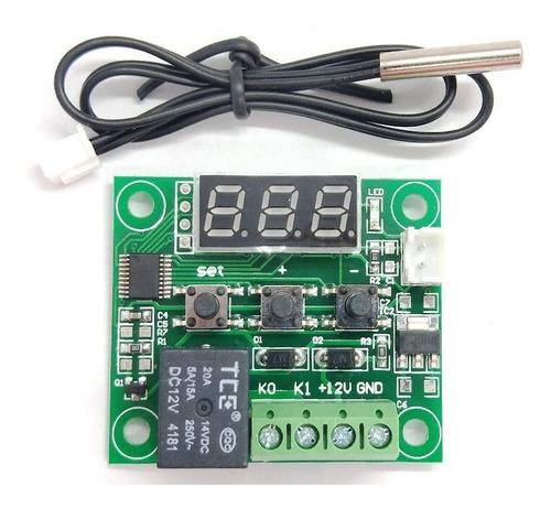 W1209 Control Temperatura Termostato Case Acrilico Y Fuente