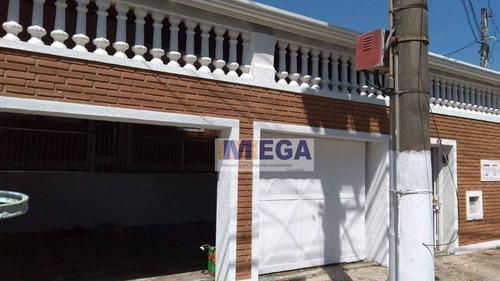Casa Com 3 Dormitórios À Venda, 200 M² - Jardim Santa Eudóxia - Campinas/sp - Ca0513