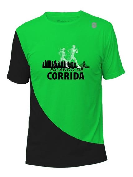Camiseta De Academia Masculina Verde Proteção Uv50+