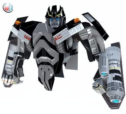 Transformer Ironhide Simple Plantillas Patrones