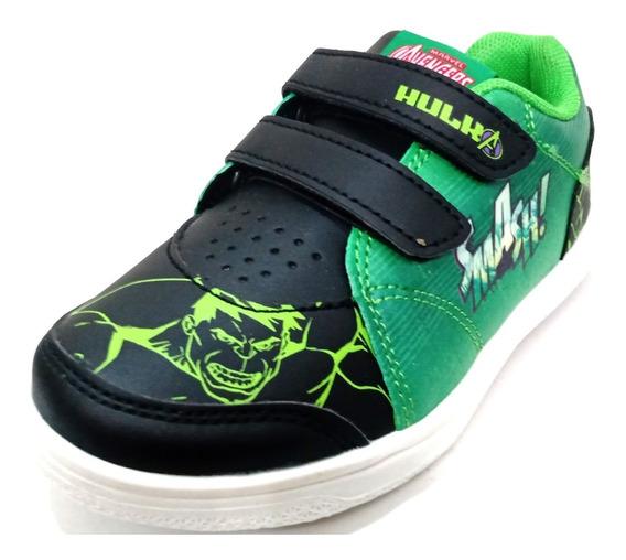 Zapatillas Bajas Marvel Hulk Con Abrojo