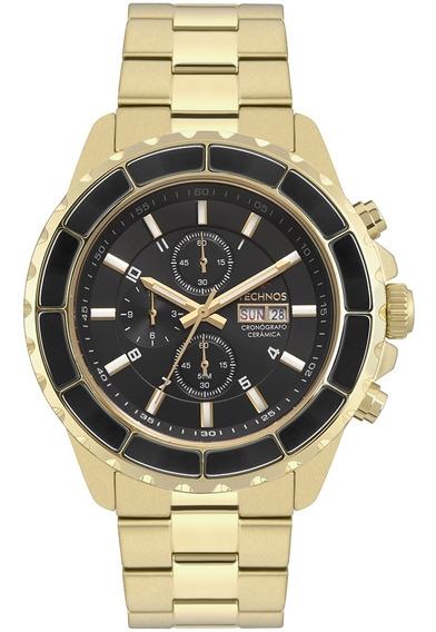 Relógio Masculino Technos Dourado Os00ae/4p