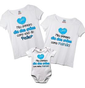 Kit Camisetas E Body Vovó Mamãe E Filho Primeiro Dia Das Mãe