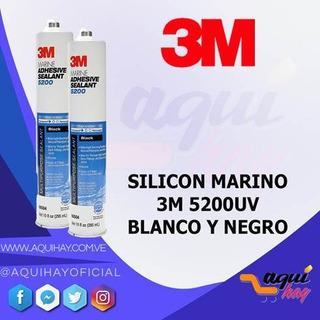 Silicon Marino 3m 4000uv 5200uv Blanco Negro