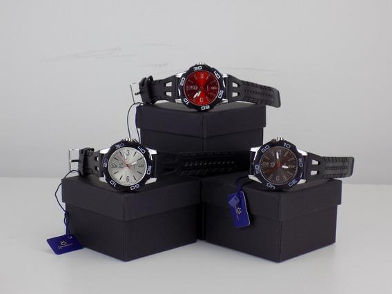 Kit 3 Relógio Sport Original Preto + Caixa Nota Fiscal