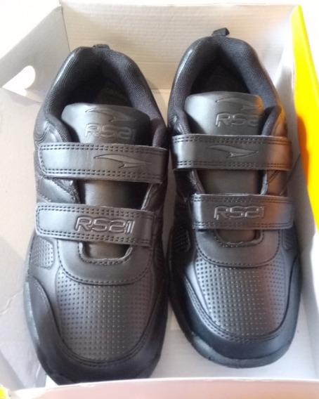 Zapatos Negros Rs 21 Originales Escolares Colegiales