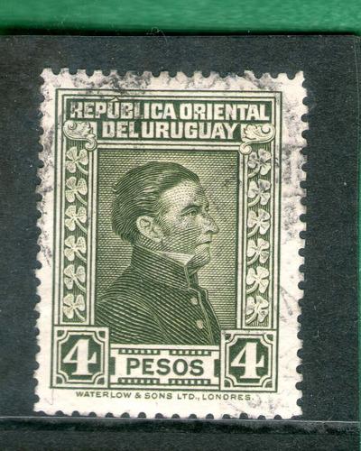 Uruguay - Artigón 4 Pesos - De Los Díficiles !!!