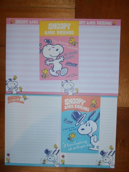 Lote Papel De Carta Snoopy: 33 Itens