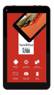 "Tablet Techpad i700 7"" 8GB rojo con memoria RAM 1GB"