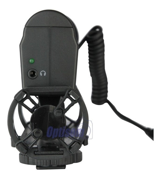 Microfone Direcional Condensador De Video Gksm10 Dslr