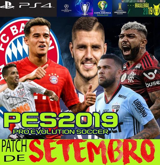 Patch Pes 2019 Ps4 V19 Atz Agosto Compatível Dlc 6.0 Show!