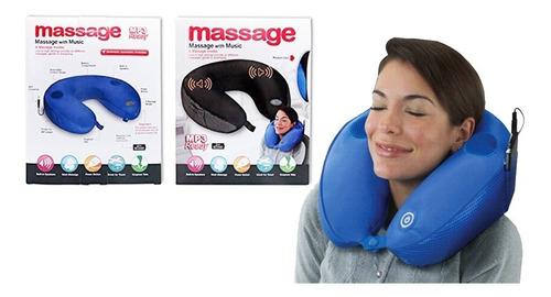 Almohada Cojin Para El Cuello Para Viaje Con Mp3  Massage