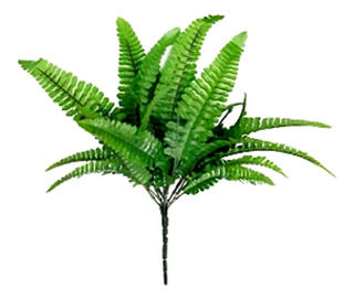 Helecho Artificial 30 Cms Decoracion Verde Pak 6 Piezas