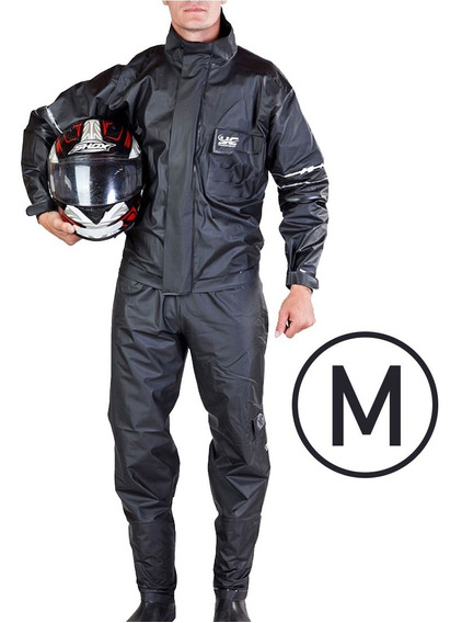 Conjunto Chuva Moto Motoqueiro Pvc Premium Forrado Blackstar