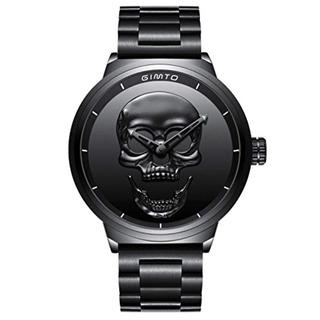Gimto Creativo 3d Cráneo Reloj De Los Hombres