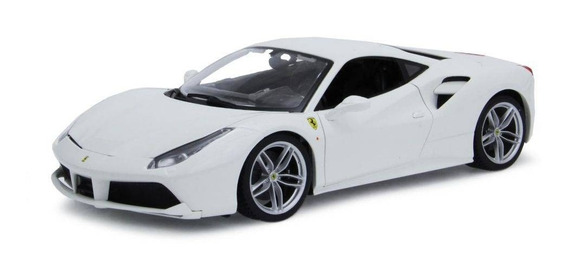 Miniatura Ferrari 488 Gtb - Burago Escala 1/18 - Branca