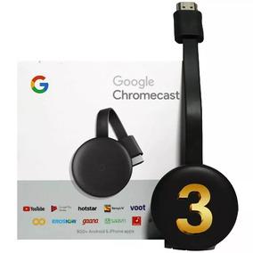Novo Chromecast 3 Google Full Hd Wi-fi Hdmi Pronta Entrega