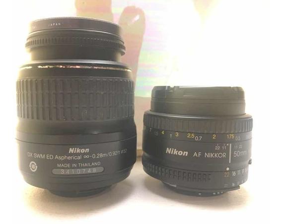 Kit Lente Nikon 18-55mm / Nikon 50mm F1.8