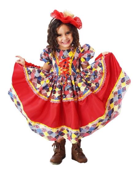 Vestido Quadrilha Festa Caipira Junina Festa Do Peão