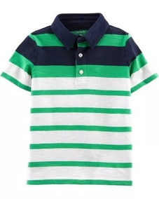 Carters Camiseta Polo Menino Estilo Social Algodão Verde