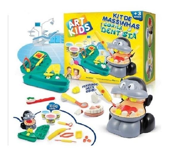 Kit Massinhas Acrilex Gorila Dentista 450g
