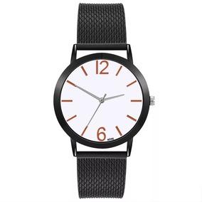 Relógio Masculino Preto Pulseira Silicone