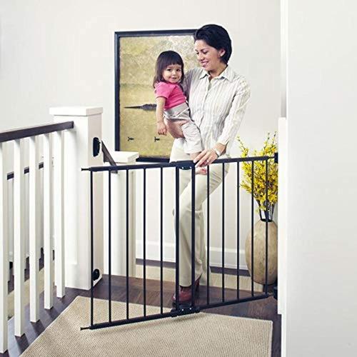 Puerta  Metálica Para Escaleras Estándar Niños Mascotas