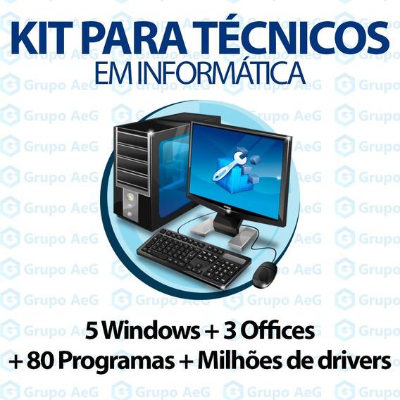 Kit Para Técnicos Em Informática Programas Office Windows