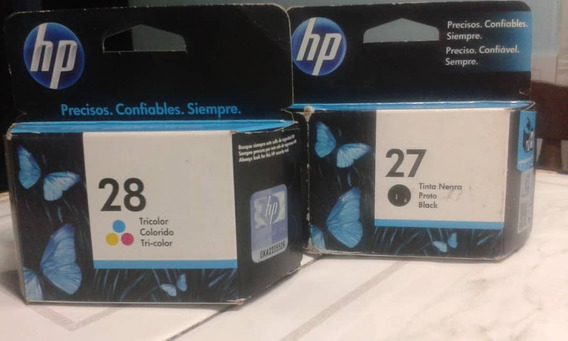 Cartuchos Hp 27,28 Y 122 A Color Originales