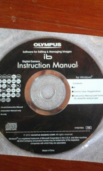 Cd Instrução Câmera Digital Olympus Fe4040/fe4020/x-940