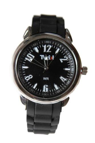 Relógio Curren Preto Masculino Adultos Branco Twik
