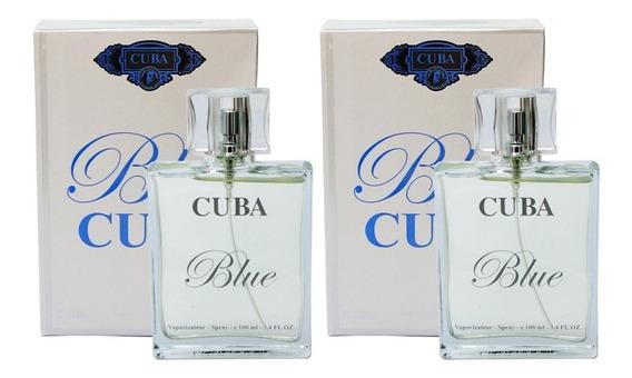 Kit 2 Perfumes Cuba Blue 2 X 100ml