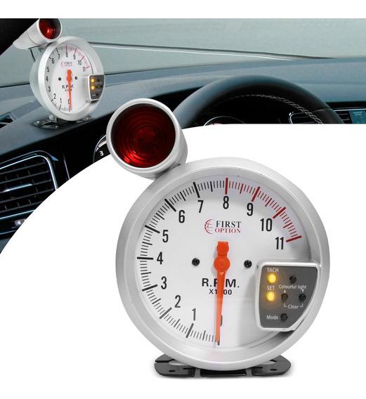 Velocímetro Rpm Automotivo Tunning Vermelho E Cinza