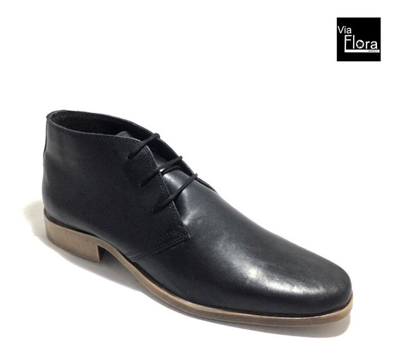 Zapato Botita De Hombre Cuero Vacuno Caña Media (73/4014)