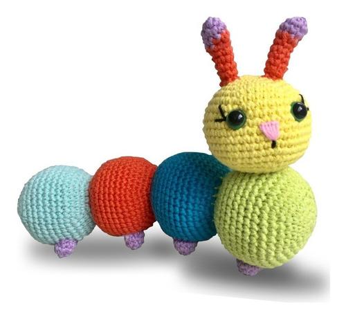 Imagen 1 de 7 de Kit Amigurumi Diy Crochet Gusanito Agujas Lanas Instructivo