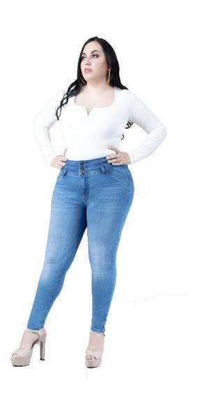 Jeans Extra Mujer Pantalón Colombiano Strech Push Up 002