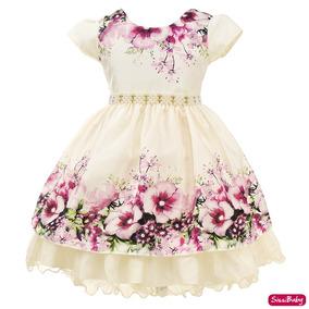 Vestido Jardim Encantado Realeza Infantil Daminha Luxo