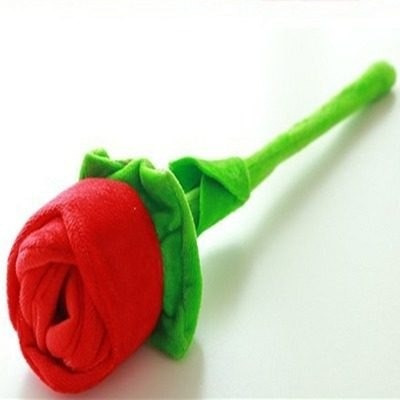 Rosa De Pelúcia Para Decoração 34 Cm Cada Envio Imediato!!