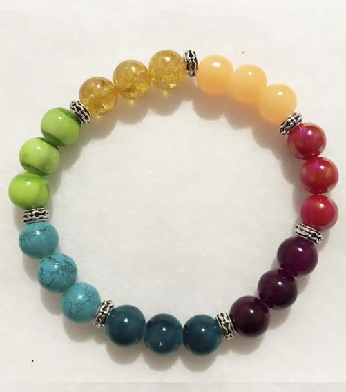 Pulsera De Cristal De Los Chakras Para Equilibrarlos Colores