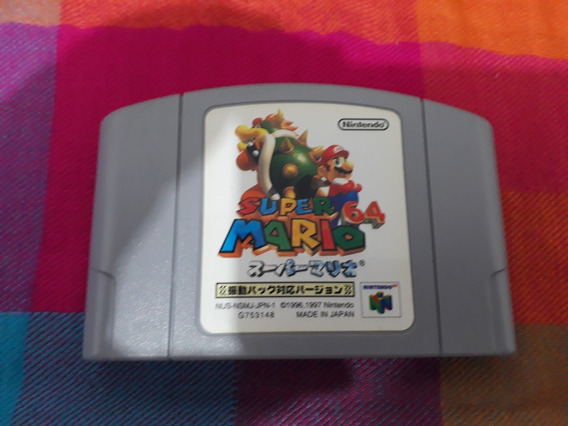 Cartucho Super Mario 64 Shindou Original Nintendo 64 Japonês