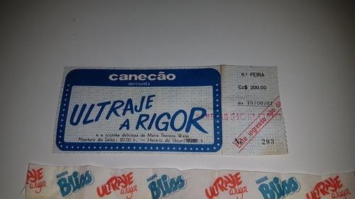 Antigo Ingresso Canecão Ultraje A Rigor E Fita Nestlé 1987