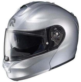 Hjc Rhpa-max Casco Modular Para Motocicleta, S, Plateado