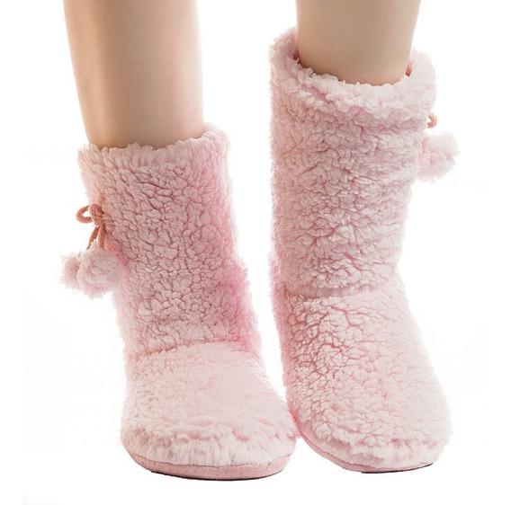 Pantuflas Coreanas Abrigadoras,emoticon Poof, Botas Oferta