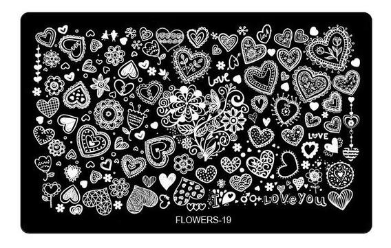 Placa De Imagem Flowers 19